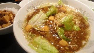 牛挽肉とレタス醤油湯麺.JPG
