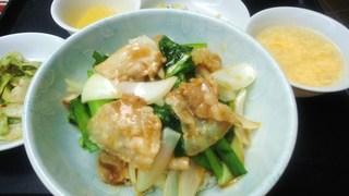 豚肉と新玉葱の生姜炒め丼.JPG