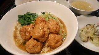 豚肉団子と青菜丼.JPG