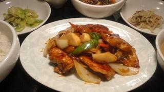 銀鮭黒酢炒め.JPG